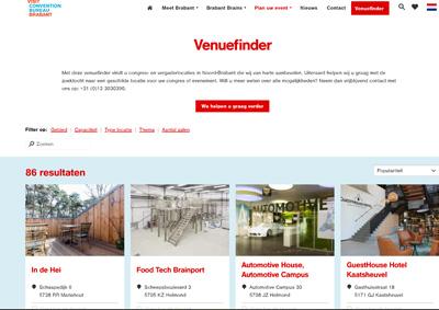 VisitBrabant - Convention Bureau - Venuefinderteksten